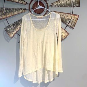 Altar'd State   Long Sleeve Ivory T Shirt